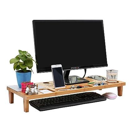 Soporte de escritorio para monitor con organizador de ...