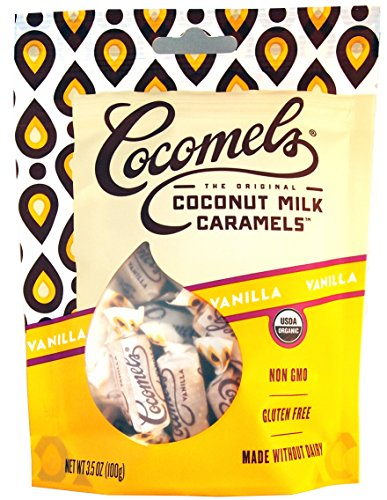 Vanilla Cocomels Coconut Milk Caramels - Organic - Made Without Dairy - Kosher - GMO Free - Vanilla 1 Pack