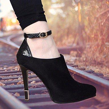 Mary PU 5 Jane ggx black Women's Chunky cn37 Heel LvYuan 7 Casual 5 Winter eu37 Boots 5 us6 uk4 WIqgYa