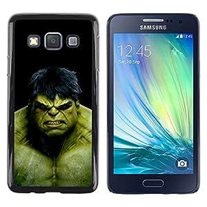 Samsung Galaxy A3 / SM-A300 , Radio-Star - Cáscara Funda Case Caso De Plástico (The Green Monster)