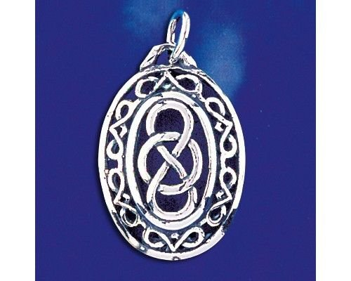 Sterling Silver Celtic Knot Pendant Keltic Artistic Irish Charm Solid 925 Italy Jewelry Making Supply Pendant Bracelet DIY Crafting by Wholesale Charms
