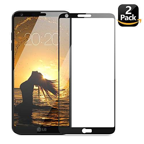 """LG G6 Screen Protector, Eakase 2.5D Curved Full Coverage Tempered Glass Anti-Scratch Anti-Fingerprint Case Friendly with Lifetime Replacement Warranty for LG G6 2017 5.7""""(Black) [Edge to - Polarizing What Is"""