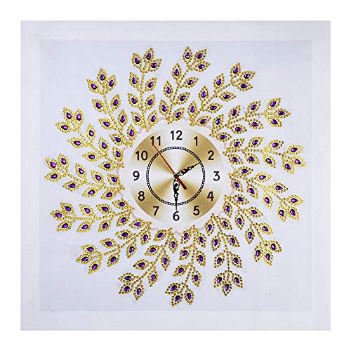 LPRTALK 5D Diamond Painting Mosaic Making DIY Special Shaped Diamond Painting Crystal Rhinestone Embroidery Water Drops Eyes Wall Clock Wall Decor 14X14 inches