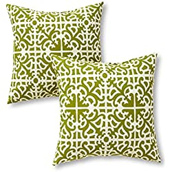 Greendale Home Fashions 17 in. Outdoor Accent Pillow (set of 2), Grass