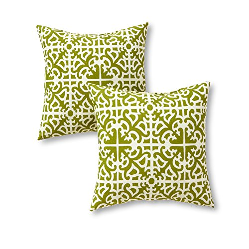 Greendale Home Fashions Indoor/Outdoor Accent Pillows, Grass, Set of (Outdoor Accents)