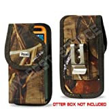 Camouflage Rugged Heavy Duty with Metal Belt Clip Holster Pouch Cover for Samsung Galaxy S2 S3 S4 & Galaxy Rugby Pro to Fit with Otterbox Defender & Commuter Lifeproof / Spigen / UAG / Puregear & Ballistic Case On