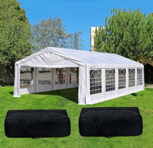 Quictent 32 x 16 Heavy Duty Carport Party Wedding Tent Canopy Gazebo Car Shelter with 4 Carry Bags