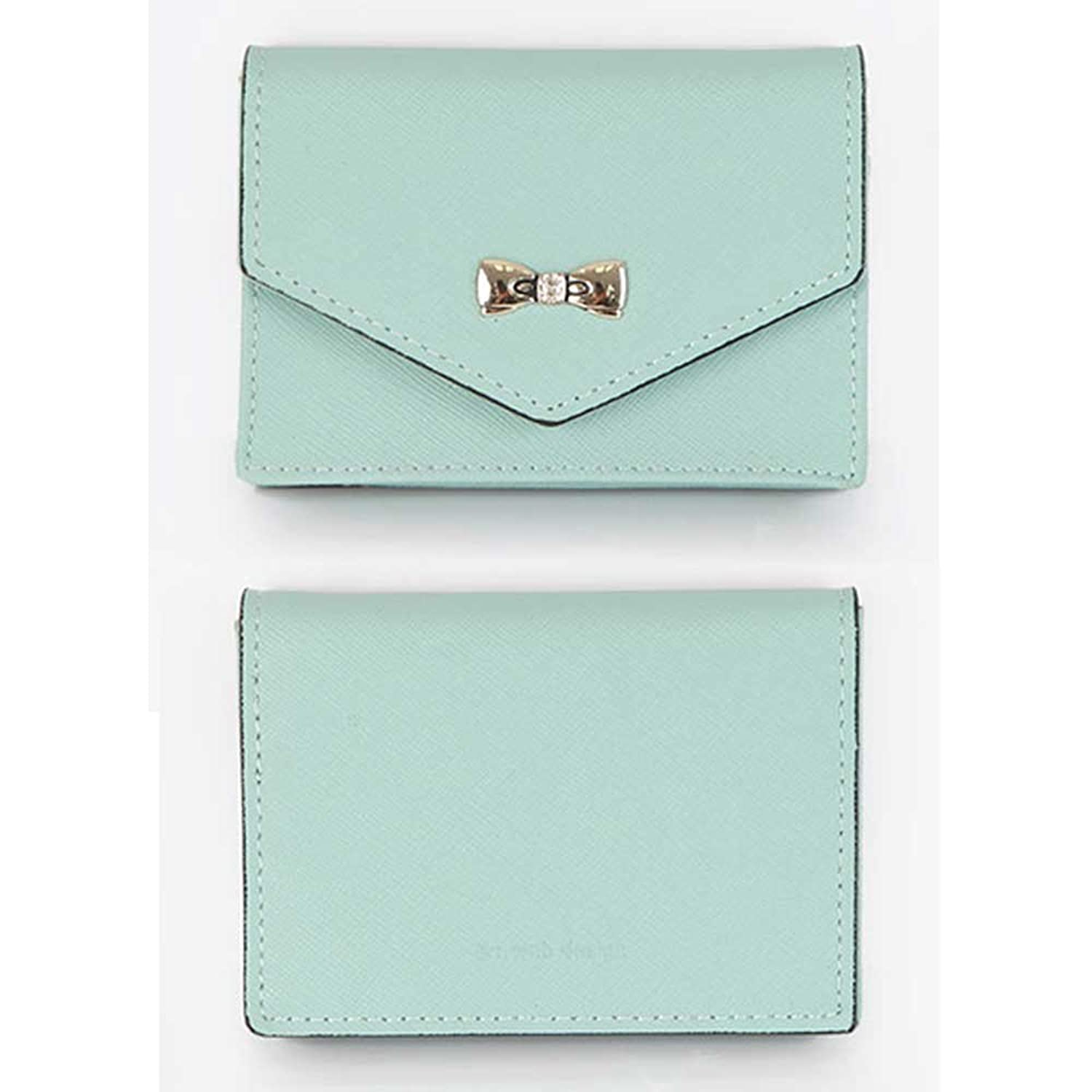 Women s Genuine Leather Name Card Holder Card Case Cute Business