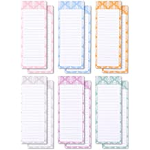 To-do-List Notepad – 12-Pack Magnetic Notepads, Grocery List Magnet Memo Pad for Shopping, To Do List, Reminders, House Chores, 6 Colors and Designs, 60 Sheets Per Pad, 3.5 x 9 Inches