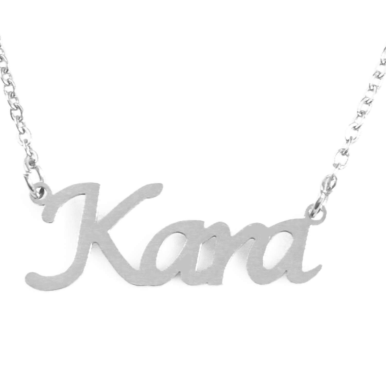 Silver Tone Zacria Kara Custom Name Necklace Personalized