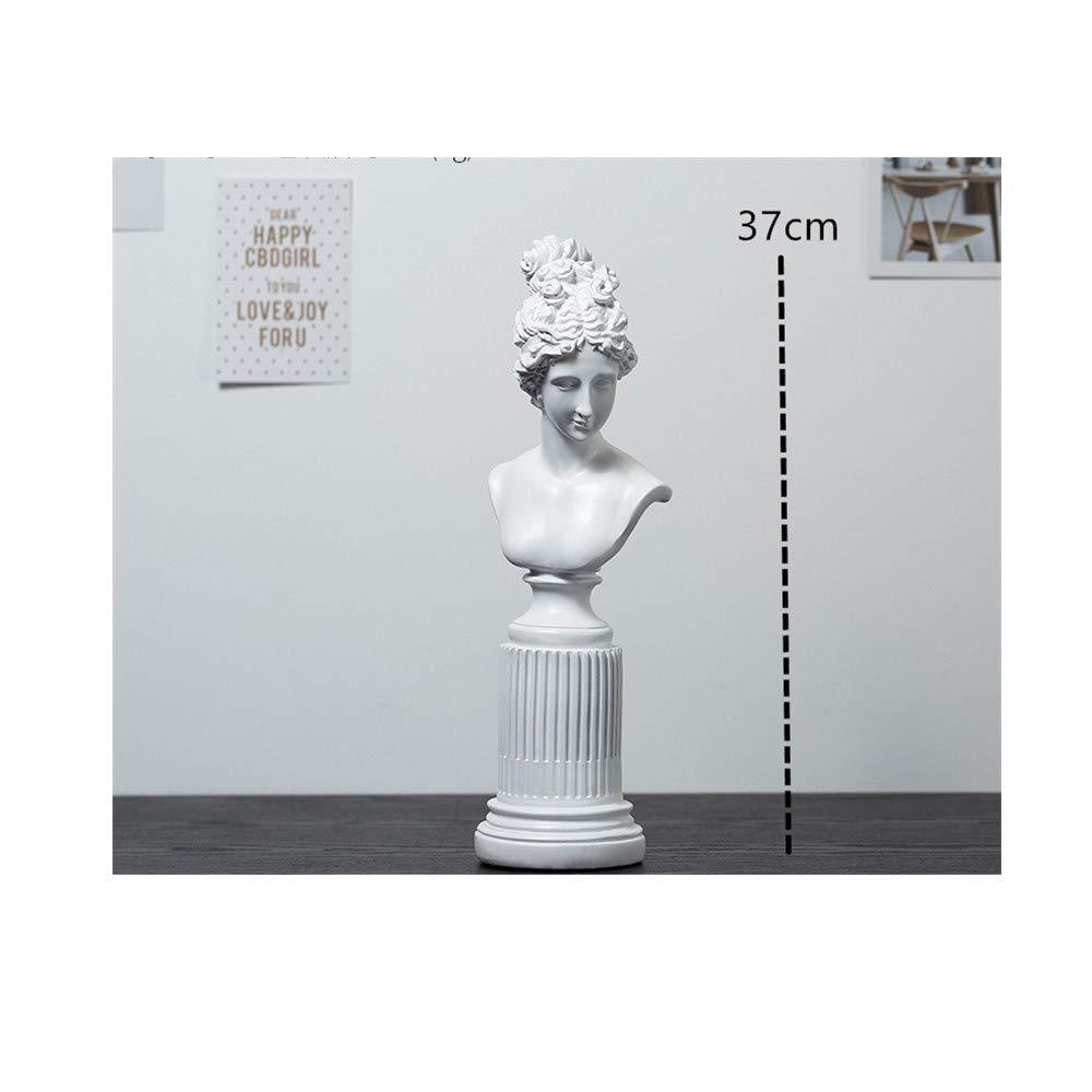 AJLNSL Statua Semplice Dea Statua Creativa personalit/à Decorazione Casa Soggiorno TV Cabinet Vino Camera da Letto Decorazionepiccolobianco Statue