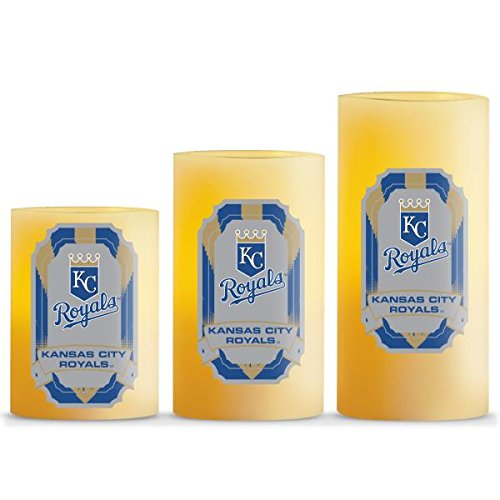 Duck House MLB Kansas City Royals LED Light Candle Gift Set (3 Piece), Small, ()