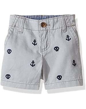 Baby Toddler Boys' Embroidered Shorts