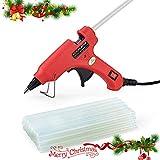 20W Mini Hot Melt Glue Gun Kit with 30pcs Hot Glue Sticks,100-240V