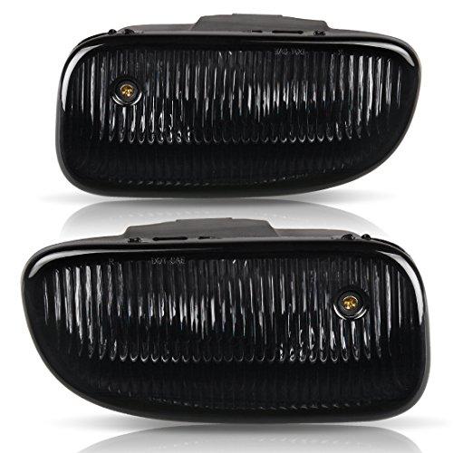 Fog Lights For Jeep Grand Cherokee 1999 2000 2001 2002 2003 (OE Smoke Clear Lens w/H12 12V 53W Bulbs)