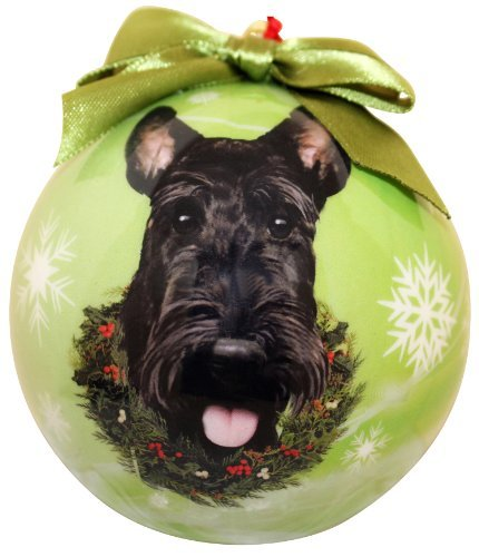 Scottie Christmas Ornament Shatter Proof Ball Easy To Personalize A Perfect Gift For Scottie Lovers by E&S (Scottie Christmas Ornament)