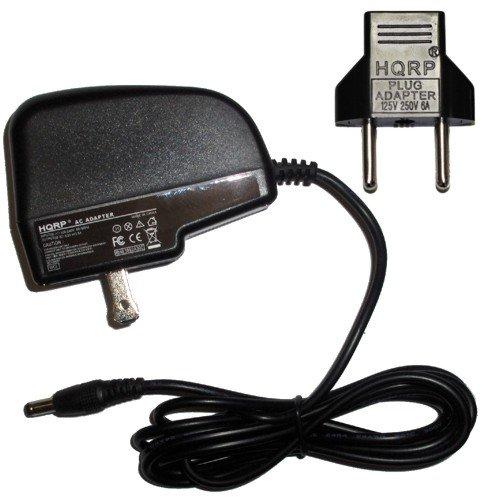 (HQRP AC Adapter for Casio KL750 / KL-750 / KL750B / KL-750B / KL7000 / KL-7000 Label Printer Power Supply Cord Plus Euro Plug Adapter)