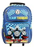 "TEAM THOMAS 16"" Blue School Rolling Backpack"