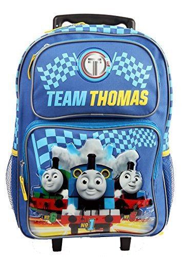 """Price comparison product image TEAM THOMAS 16"""" Blue School Rolling Backpack"""
