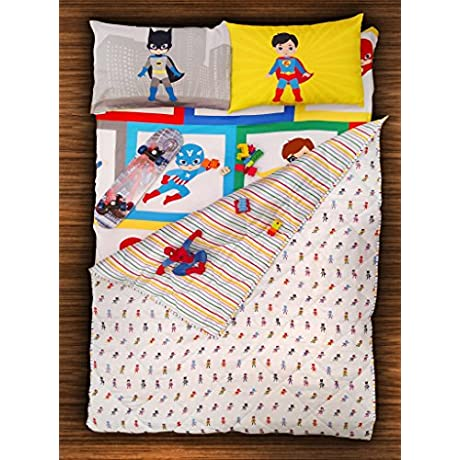 Paper Rockets Boys Cotton Super Heroes Themed Quilt Blanket Rajaii