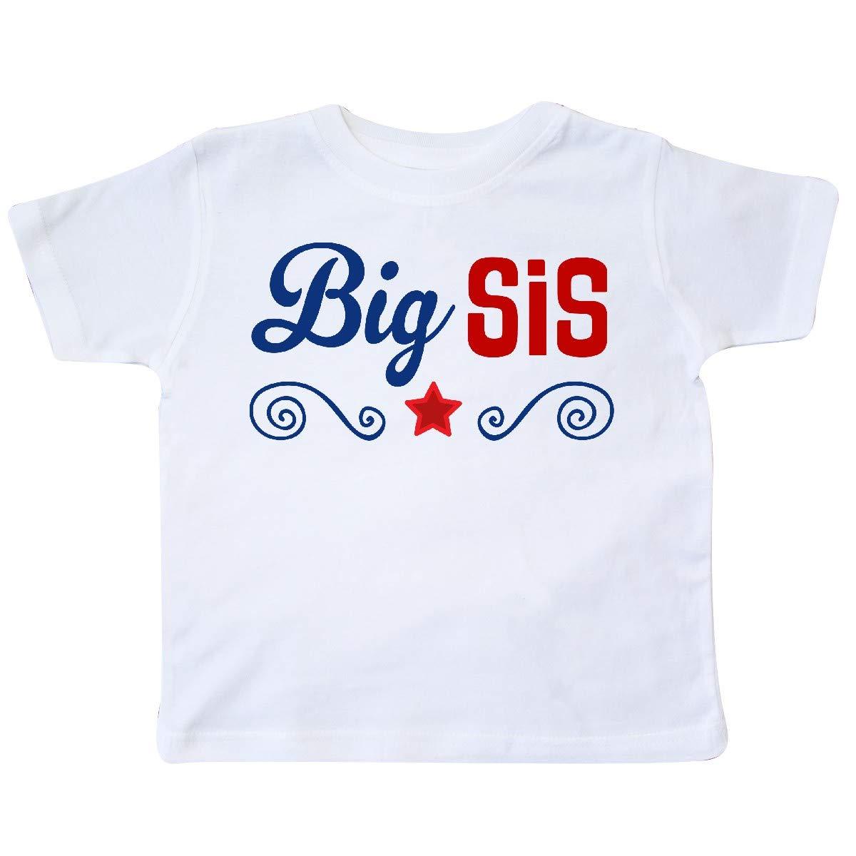 inktastic Big Sis Patriotic Sister Toddler T-Shirt