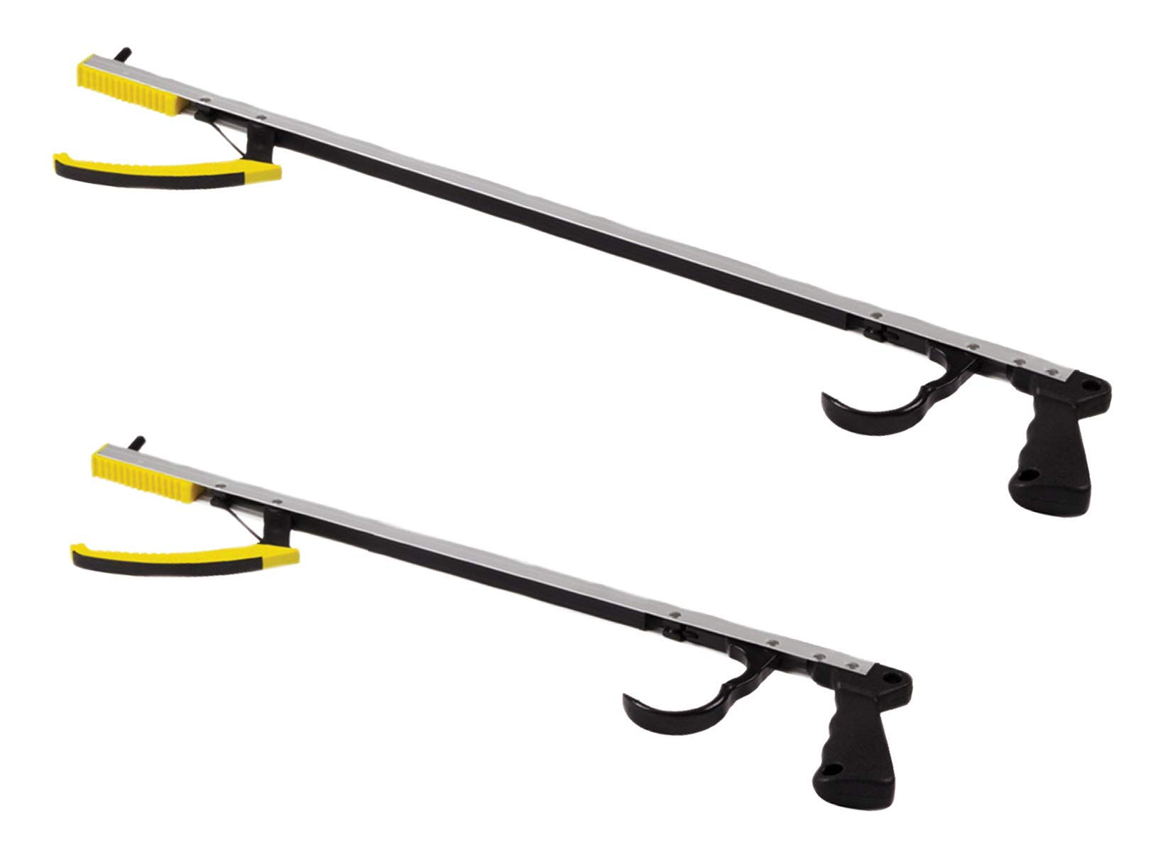 Deluxe Jaw/Trigger Reaching Aid, Pistol Grip, Long and Short Grabber Reachers - Magnetic Tip to Pick Up Small Objects - Mobility Aid Reaching Assist Tools, Arm Extension - 20-inch and 32-inch Bundle