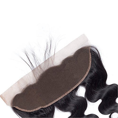 Amella Hair 10A Brazilian Body Wave Frontal(16 18 20+14 Frontal) Bundles with Frontal Ear to Ear Lace Frontal Closure with Bundles Brazilian Body Wave Frontal with Baby Hair Natural Black Color by Amella hair (Image #5)'