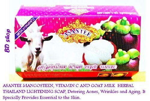 Wholesale Goats Milk Soap - (3 Pcs.) 135g. Mangosteen, Vitamin C and Goat Milk Whitening Soap By Asantee.