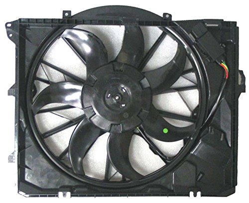 Dual Radiator and Condenser Fan Assembly - Cooling Direct For/Fit BM3117101 06-13 BMW 3-Series 08-13 1-Series AT w/o Turbo w/o SULEV (N51) Bmw Auxiliary Fan Assembly