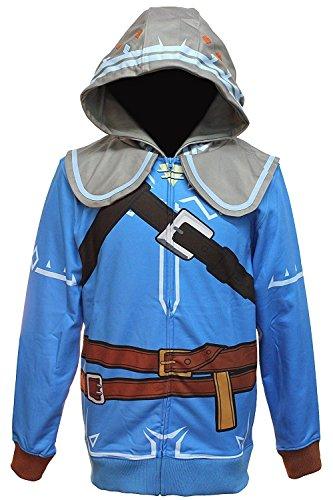 Mens Breath of the Wild Zelda Suit Up Costume Hood - XL