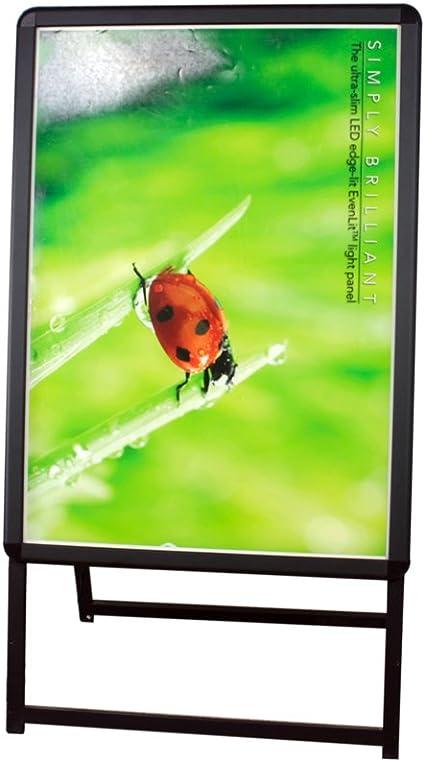 centch LED A-Board acrílico luz Panel pavimento Junta iluminar Póster de soporte para tienda cartel publicidad al aire libre mensaje., Black B2 Double Side: Amazon.es: Oficina y papelería
