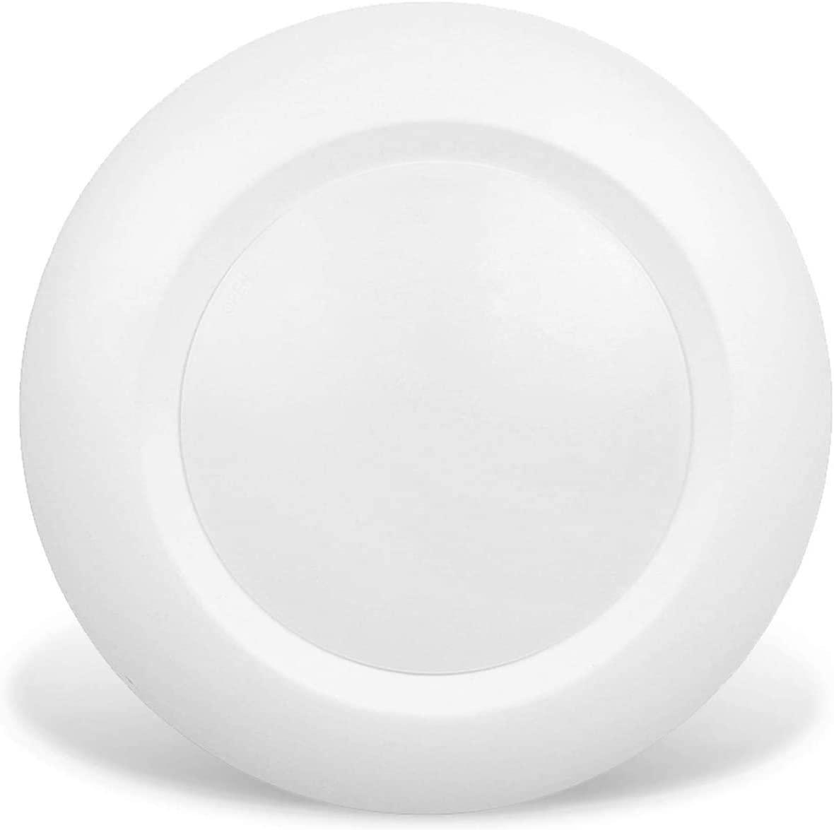 JULLISON 6 Inch LED Low Profile Recessed & Surface Mount Disk Light, Round, 15W, 900 Lumens, 4000K Cool White, CRI80, Driverless Design, Dimmable, cETLus Listed, White(1 Pack)