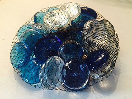 Mixed Blues & Klar Glas Deko Pebble Steine-Aquarien Floral Kerze zeigt Hochzeit Weihnachten Crafts