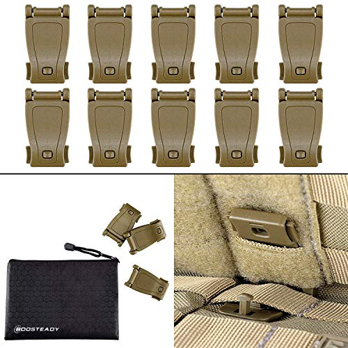 (Multipurpose MOLLE Clip Tactical Strap Management Tool Web Dominator Buckle for Tactical Bag, Backpack by BOOSTEADY )