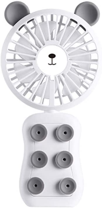 White Iusun Mini Handheld USB Fan,Bear Ear 3-Speed Handheld Rechargeable Air Small Personal Portable Desk Stroller Fan Electric Cooling Fan for Office Room Outdoor Household Traveling Camping Gym