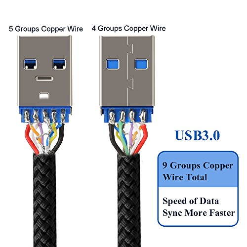 best Type C Cable, COOYA USB C to USB 3 0 Cable (1Ft) Type C Durable and