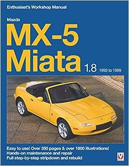 Mazda mx 5 miata 18 1993 to 1999 enthuasiast workshop manual mazda mx 5 miata 18 1993 to 1999 enthuasiast workshop manual enthusiasts workshop manual series rod grainger 9781845840907 amazon books fandeluxe Choice Image
