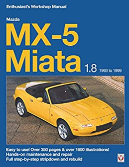 mazda mx 5 miata 1 8 1993 to 1999 enthuasiast workshop manual rh amazon com 1995 Mazda Miata 1991 Mazda Miata