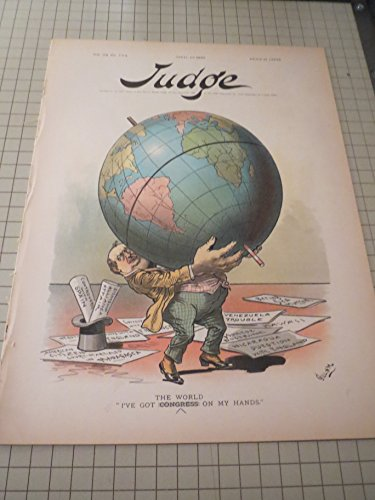 1895 Judge Magazine - Holding Up The World - The Coming Woman (Feminist Satire) - Wanted: A Good Samaritan
