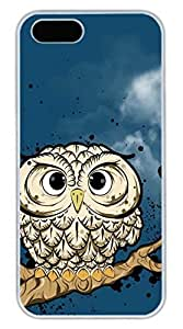 iPhone 5S Case, iPhone 5 Cover, iPhone 5S Owl Hard White Cases