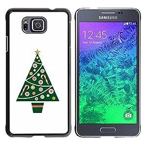 Be Good Phone Accessory // Dura Cáscara cubierta Protectora Caso Carcasa Funda de Protección para Samsung GALAXY ALPHA G850 // Tree Minimalist White Winter
