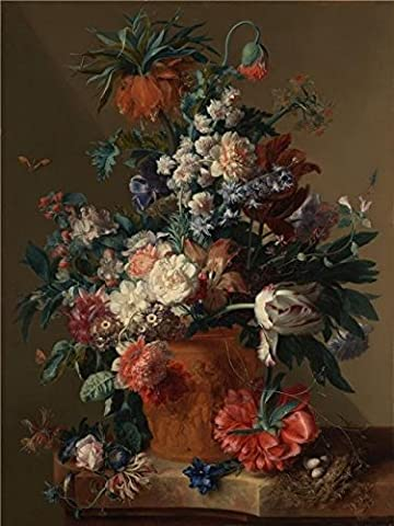 Oil Painting 'Vase Of Flowers, 1722 By Jan Van Huysum' Printing On High Quality Polyster Canvas , 16x21 Inch / 41x54 Cm ,the Best Wall Art Artwork And Home Artwork And Gifts Is This High Quality Art Decorative Canvas - Alfred Gockel Flowers