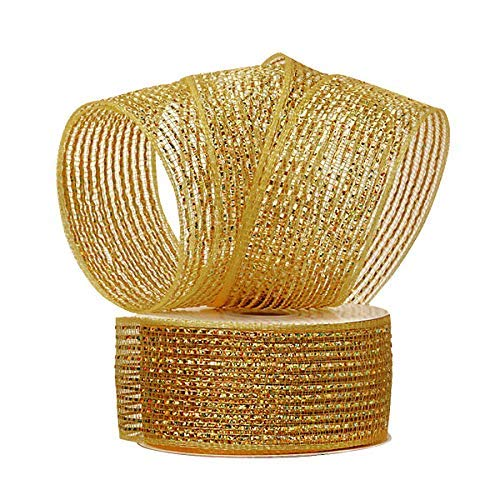 Mardi Gras Gold Deco Mesh - 2-1/2
