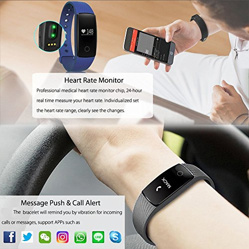 Heart Rate Fitness Tracker Ativafit Sleep Monitor Calorie Counter Activity Tracker Smart Bracelet for iPhone & Android Phone by Ativafit (Image #5)