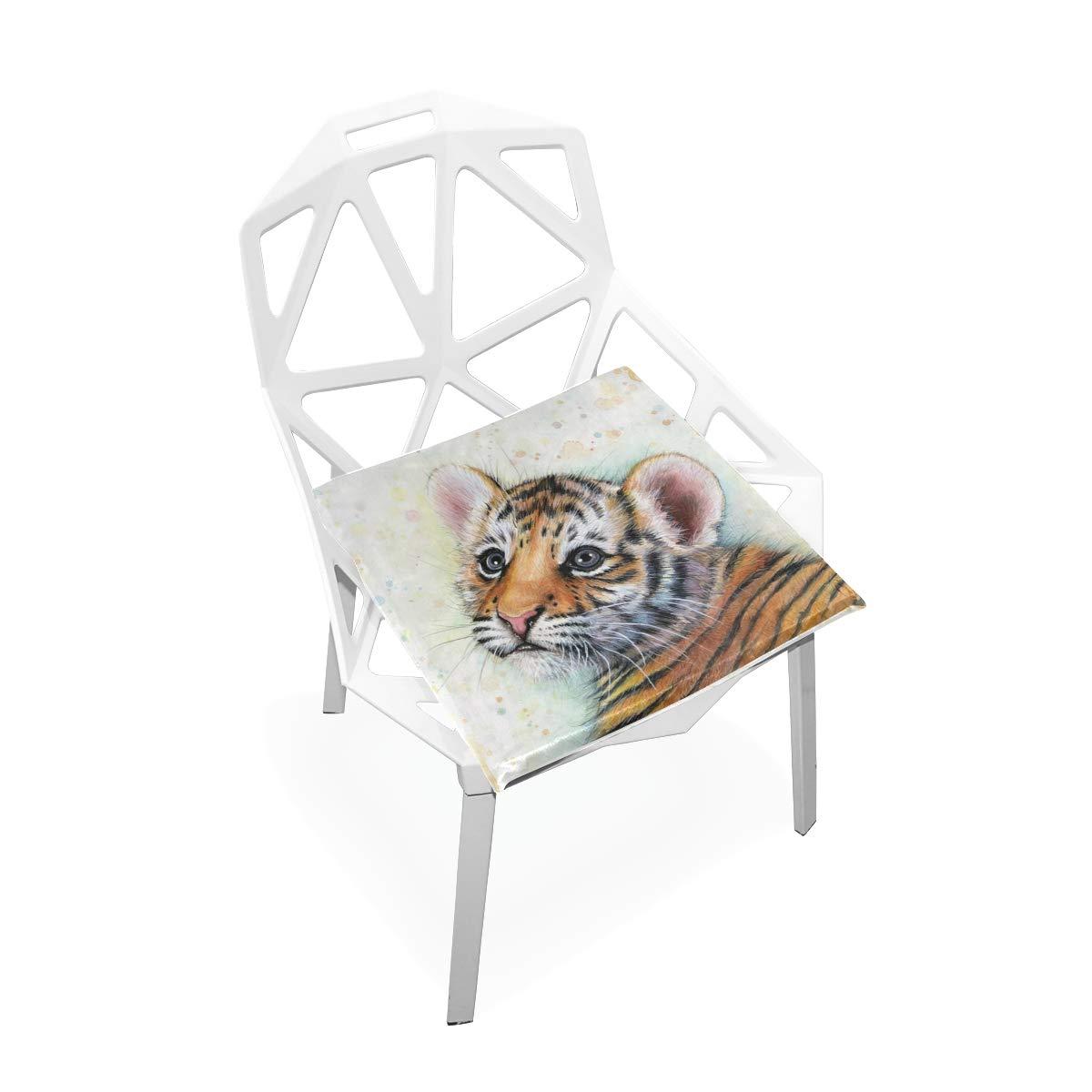 YOHHOY Premium Comfort Seat Cushion Tiger Watercolor Baby Animals Non-Slip Orthopedic Memory Foam Cushion for Tailbone Pain – Office Chair Car Seat Cushion