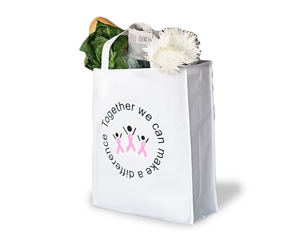 Breast cancer awareness grocery totes