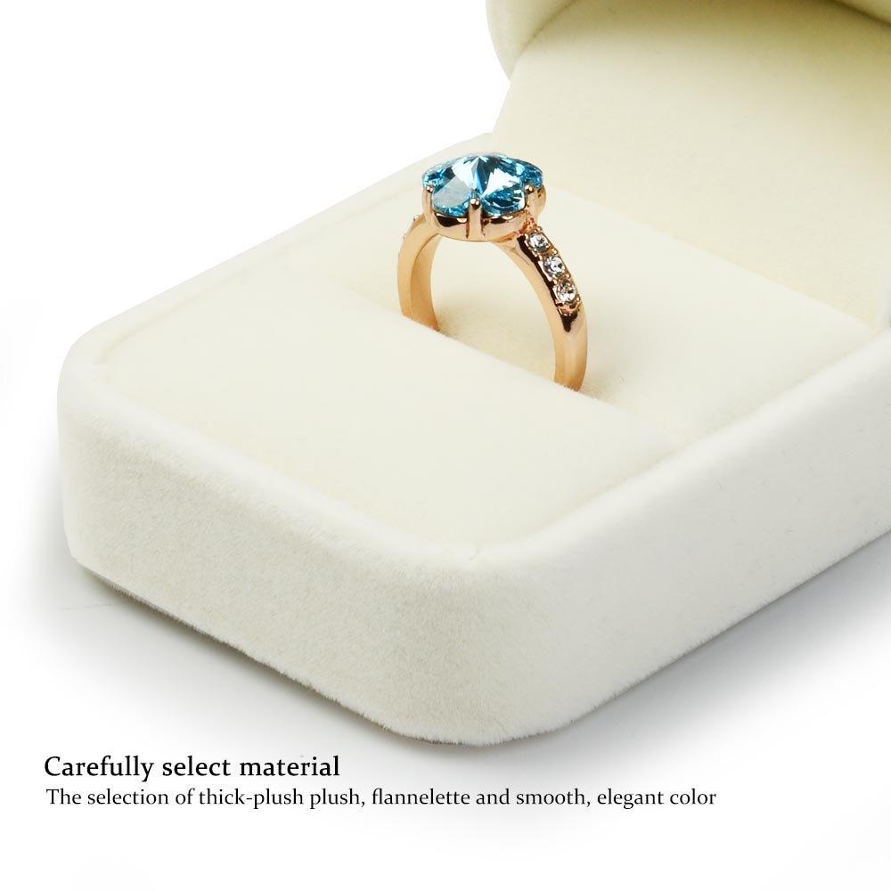 Wei/ß Verlobung ideal als Geschenkbox Bracelet Box Oirlv Ringschatulle aus Samt f/ür Hochzeit Valentinstag