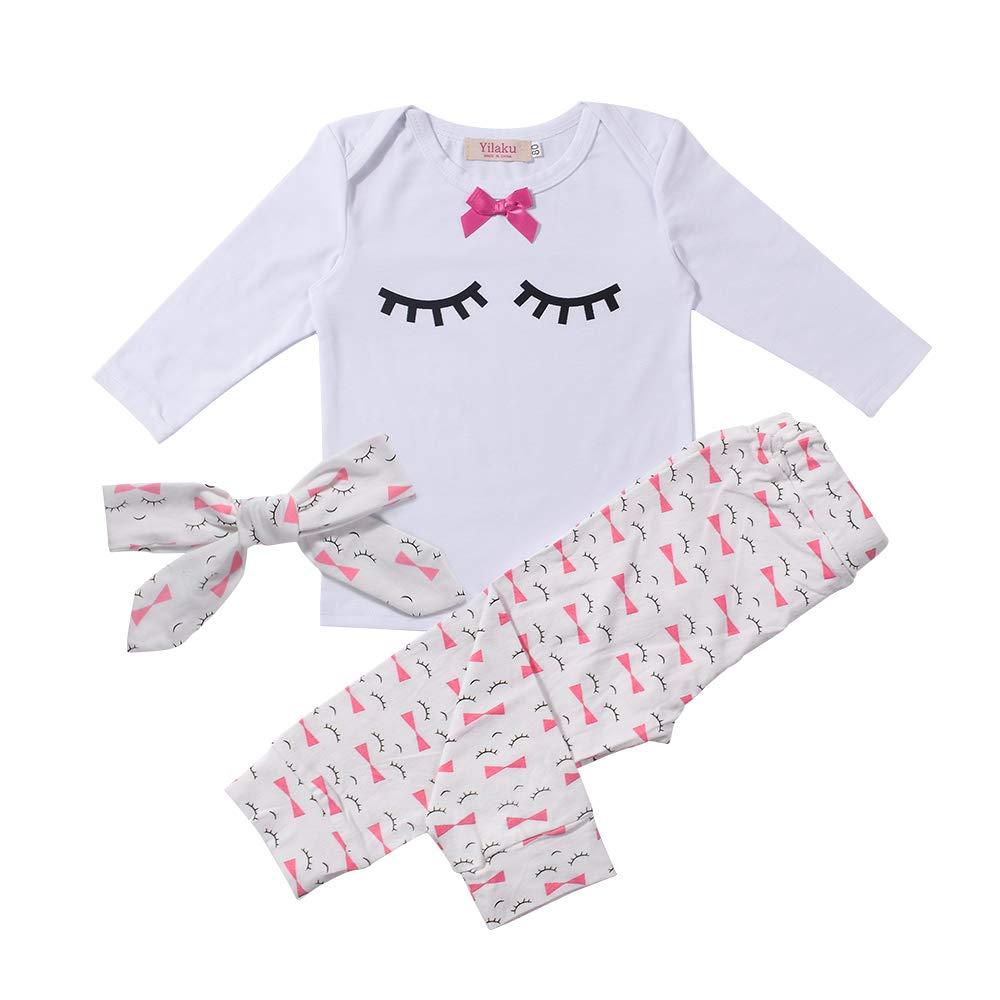 a309af78e35db Yilaku Bébé Fille Vêtements Ensembles Pantalons et Haut Mignonne cil  product image