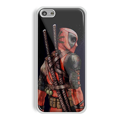 Deadpool Mask Wallpaper for Iphone and Samsung Galaxy (iPhone 5/5s white) ()