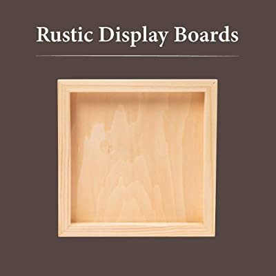 School Projects Pack of 12 Unfinished Solid Wood Picture Frames for Arts Crafts DIY Painting Project Stand or Hang on The Wall 6x8 Frame Size Holds 6x4 Pictures for Kids Craft Birthday